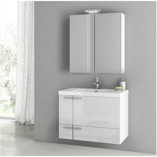 New Space 32 Wall-Mounted Single Bathroom Vanity Set by ACF Bathroom Vanities