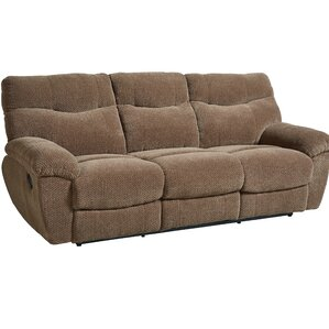 Andover Mills Neponset Taupe Brown Manual Motion Reclining Sofa