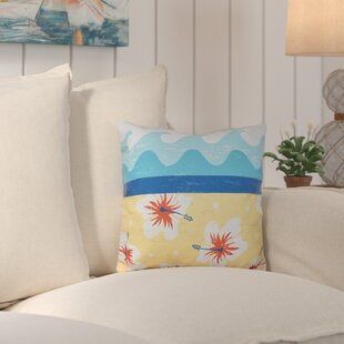 Surf, Sand and Sea Outdoor Throw Pillow by Bay Isle Home