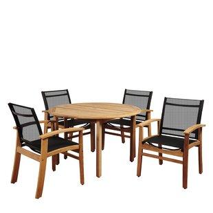 Kelleher 5 Piece Teak Dining Set
