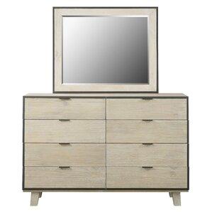 Sidney 8 Drawer Dresser with Mirror by Brayden Studio