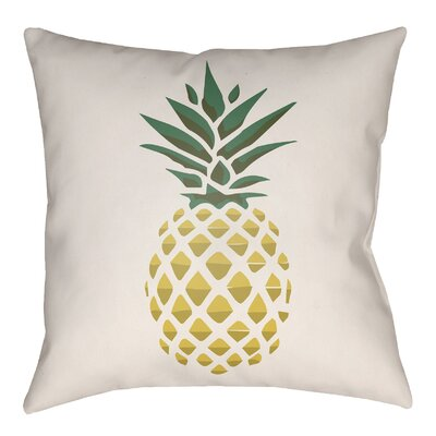 Bay Isle Home Brookwood Pineapple Indoor/Outdoor Throw Pillow Size: 22 H x 22 W