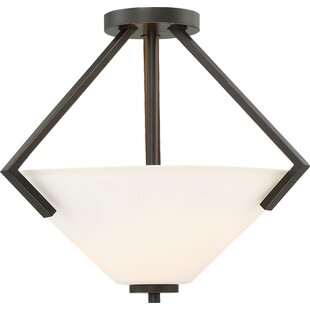 Ebern Designs Naccarato 2-Light Semi Flush Mount