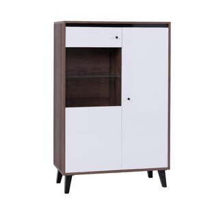 Clelie Curio Cabinet With Lighting By Ebern Designs