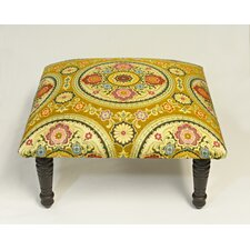 Maxine Rio Brocade Medallion Accent Stool by Corona Decor