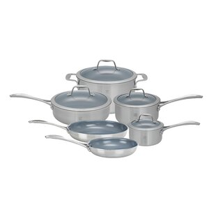 Spirit 10 Piece 3 Ply Non-Stick Stainless Steel Ceramic Cookware Set