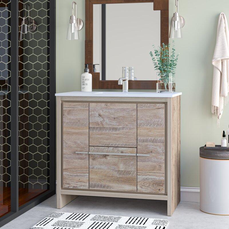 Mercury Row Bosley Modern 36 Single Bathroom Vanity Set Reviews Wayfair