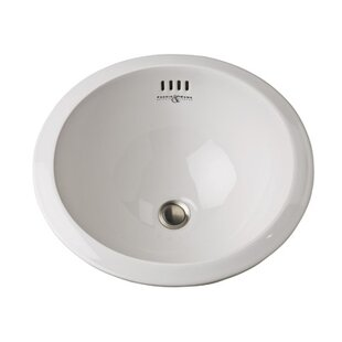 Vitreous China Circular Vessel Bathroom Sink with Overflow Rohl