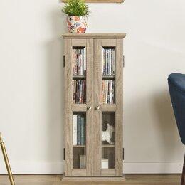 unusual solid wood media cabinet. Media Cabinets CD  DVD Storage You ll Love Wayfair