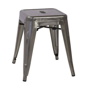 17 Stories Ruggero Industrial Tolix 18'' Bar Stool (Set of 4)