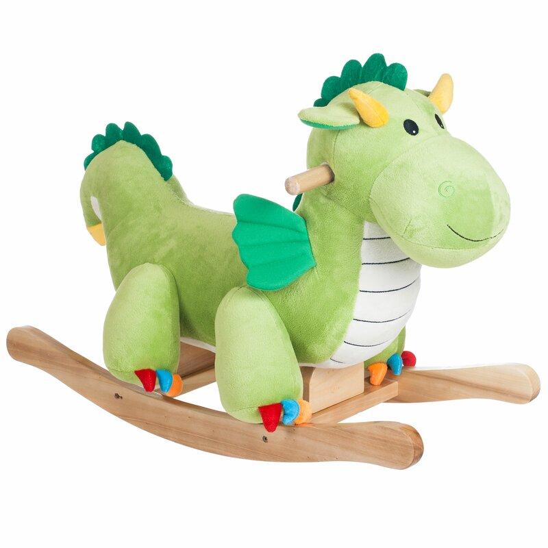 Happy Trails Dragon Plush Rocker