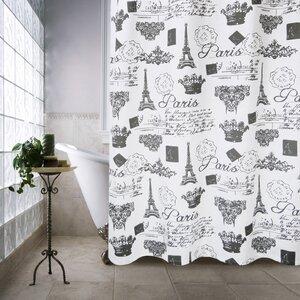 Buy Metro Farmhouse Cotton Paris Travels Shower Curtain!