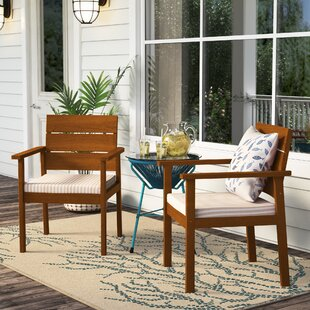 Gaeta Patio Dining Chair with Cushion (Set of 2)