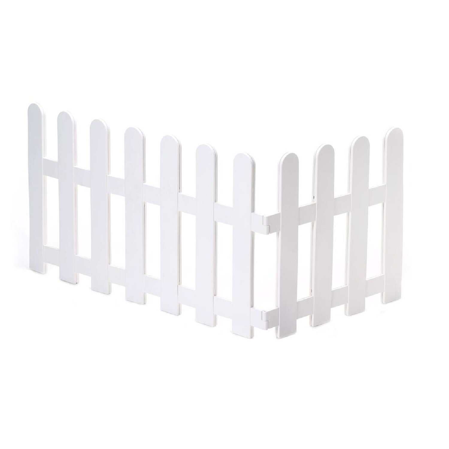 Worth Garden 1 Ft H X 4 Ft W White Sectional Composite Fence Panel