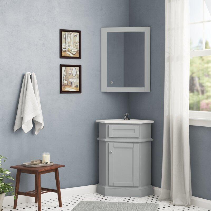 Red Barrel Studio Rocher 27 Single Bathroom Vanity Set With Mirror Reviews Wayfair