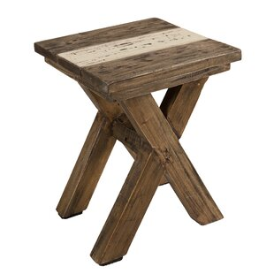 Cushing Recycled Wooden Stool By Alpen Home