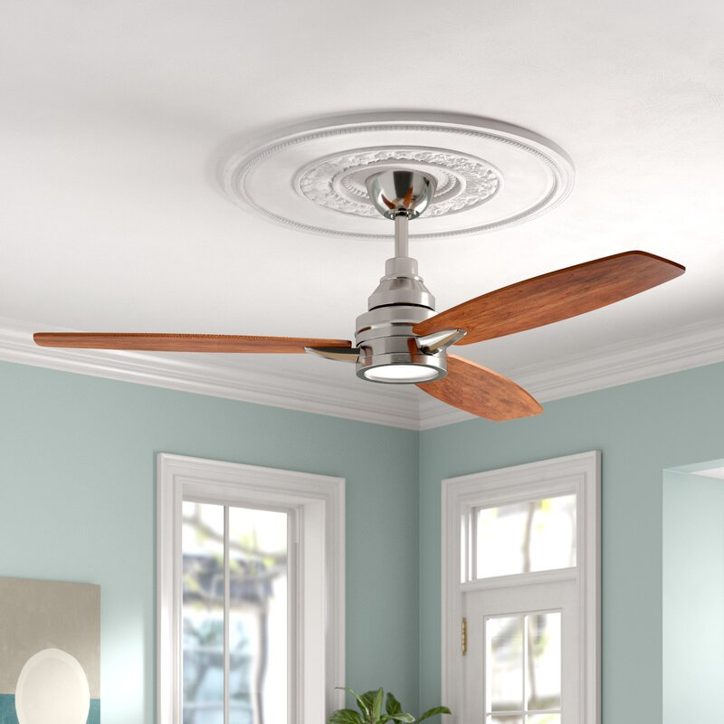 Foundstone 60 Troy 3 Blade Led Standard Ceiling Fan With Remote Control And Light Kit Included Reviews Wayfair
