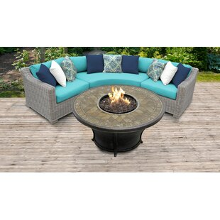 Coast Outdoor 4 Piece Sectional Seating Group Set with Cushions