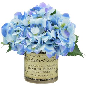 Blue with Lavender Hydrangea Cluster
