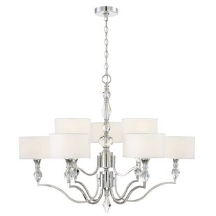 Designers Fountain Evi 9-Light Shaded Chandelier
