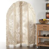 60'' W x 72'' H 4 - Panel Solid Wood Folding Room Divider