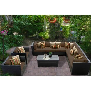 Medley 10 Piece Sectional Seating Group with Cushions