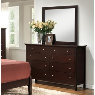 Charlton Home Maeve 8 Drawer Double Dresser with Mirror Image