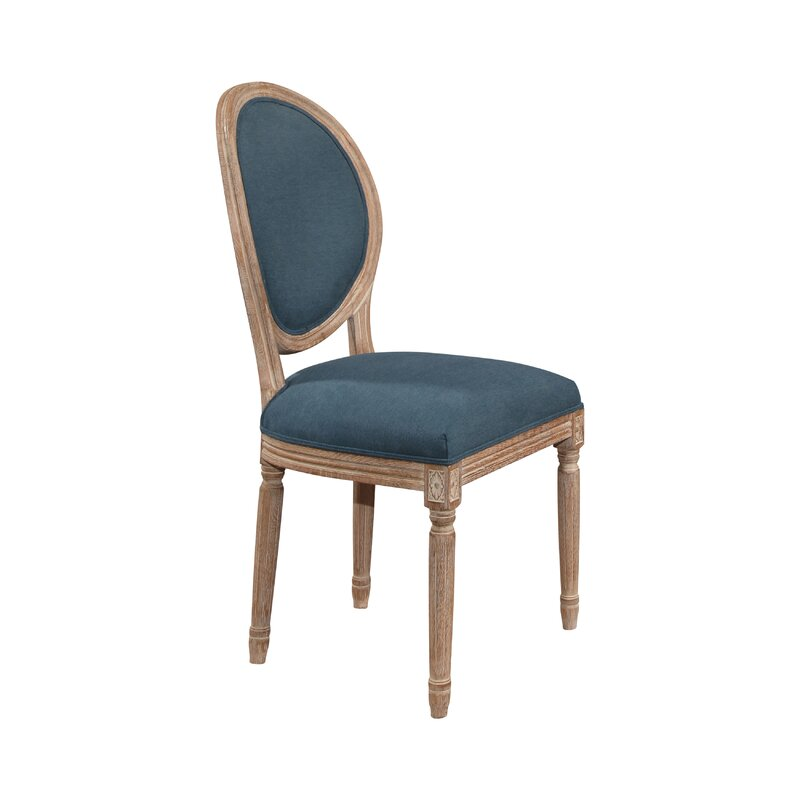 Beau Manlius Vintage Round Back Upholstered Dining Chair