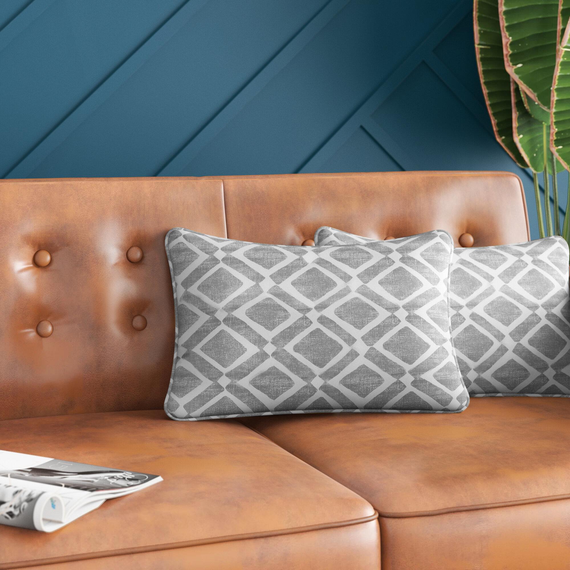 Mercury Row Barna Geometric Throw Pillow Reviews Wayfair