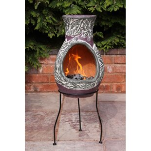 Earth Clay Charcoal And Wood Burning Chimenea By Gardeco