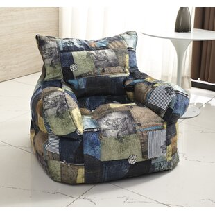 Print Medium Bean Bag Chair by Zipcode Design