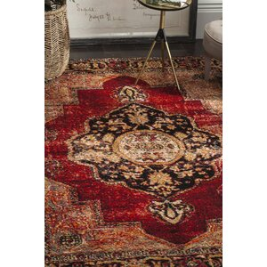 Fitzpatrick Red Area Rug