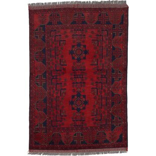 One-of-a-Kind Auxvasse Hand-Knotted 3'3 x 5' Wool Red Area Rug