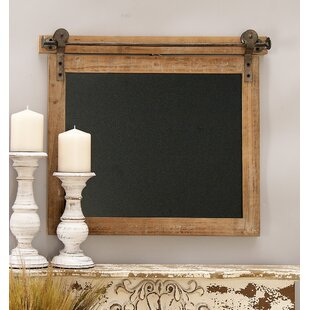 Wood/Metal Wall Mounted Chalkboard