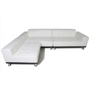 Dumas Leather Reversible Sectional