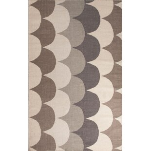 Montville Gray Taupe Geometric Area Rug