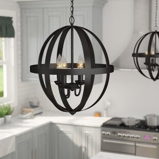 Laurel Foundry Modern Farmhouse La Barge 3-Light Globe Chandelier