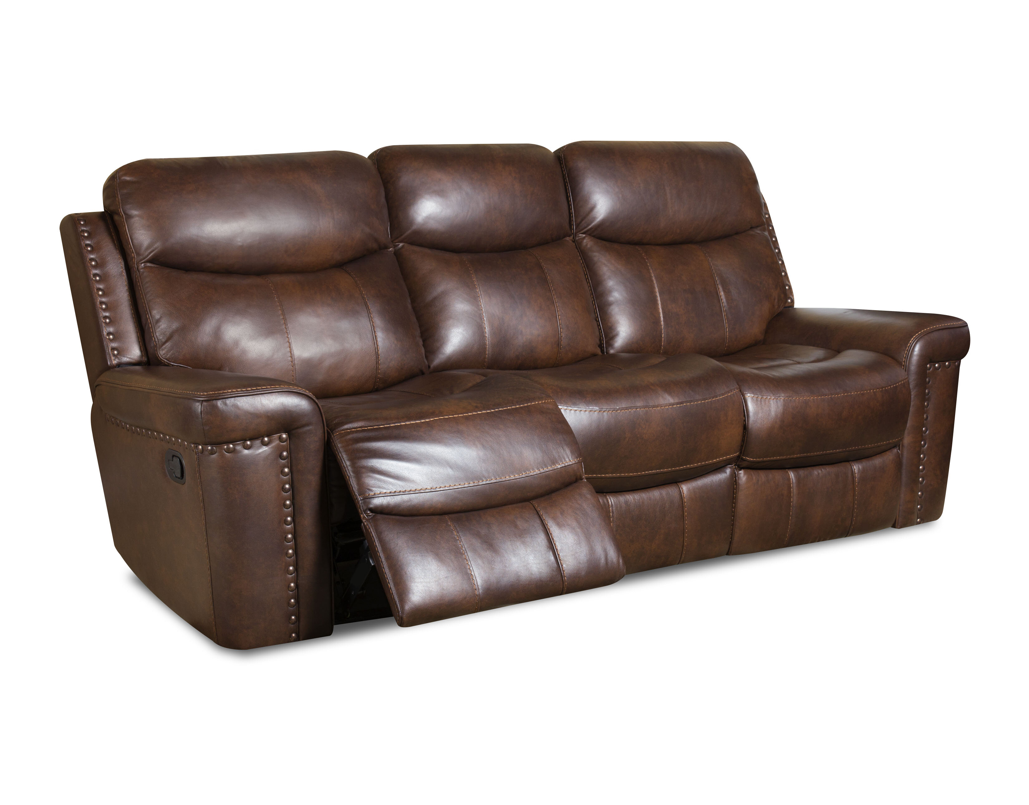 Alcott Hill Heineman Leather Reclining Sofa & Reviews | Wayfair