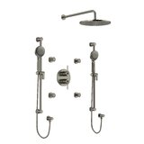 CS 3/4 Thermostatic & Pressure Balance Shower System with Multiple Functions including Body Sprays by Riobel