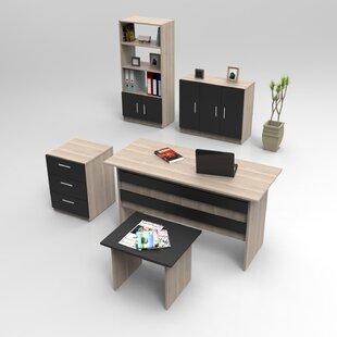 Anacostia 5-Piece Standard Desk Office Suite By Ebern Designs