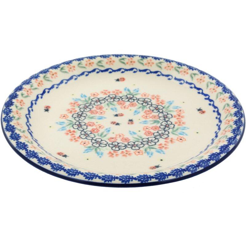 Polmedia Fanciful Ladybug Polish Pottery Decorative Plate Wayfair