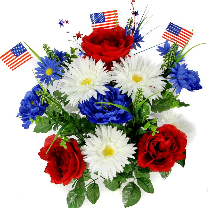 Artificial 4th of July Flower Arrangement