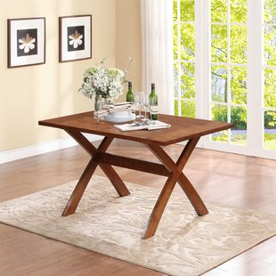 Rosamond Trestle Dining Table Alcott Hill