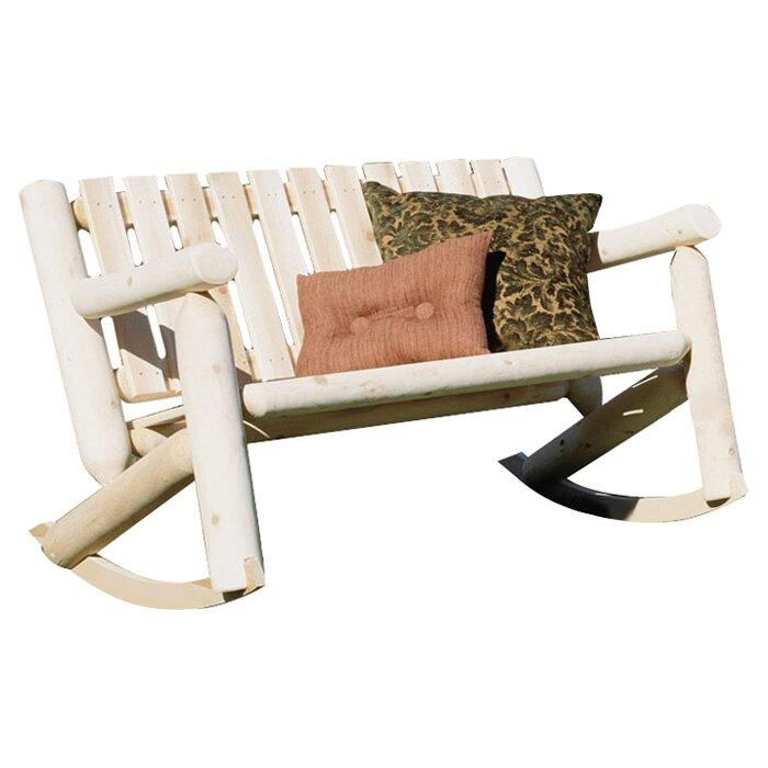 Rustic Cedar Outdoor / Indoor Cedar Rocking Chair & Reviews   Wayfair