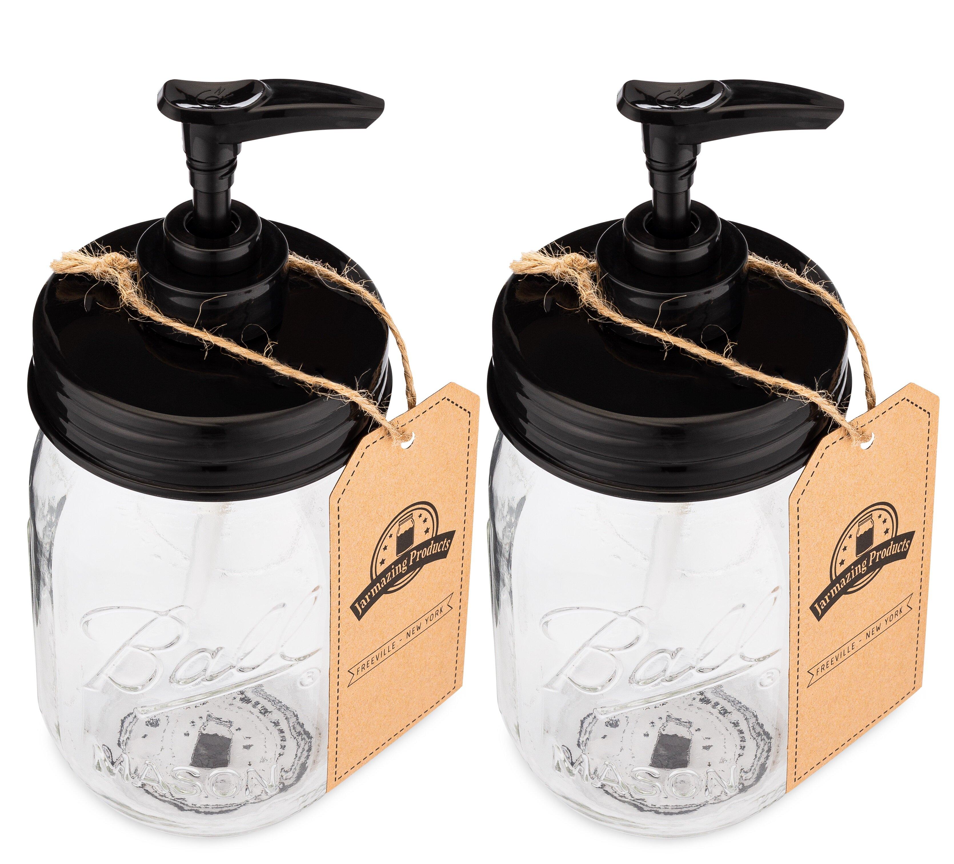 mason jar soap lotion dispenser