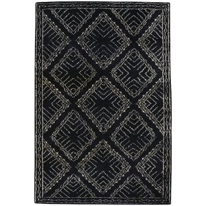 Fortress Hand-Knotted Ebony Area Rug