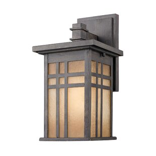 Millwood Pines Trever Outdoor Wall Lantern (Set of 2)