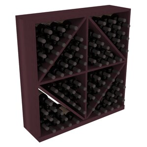 Karnes Redwood Diamond Storage 96 Bottle Floor Wine Rack by Red Barrel Studio