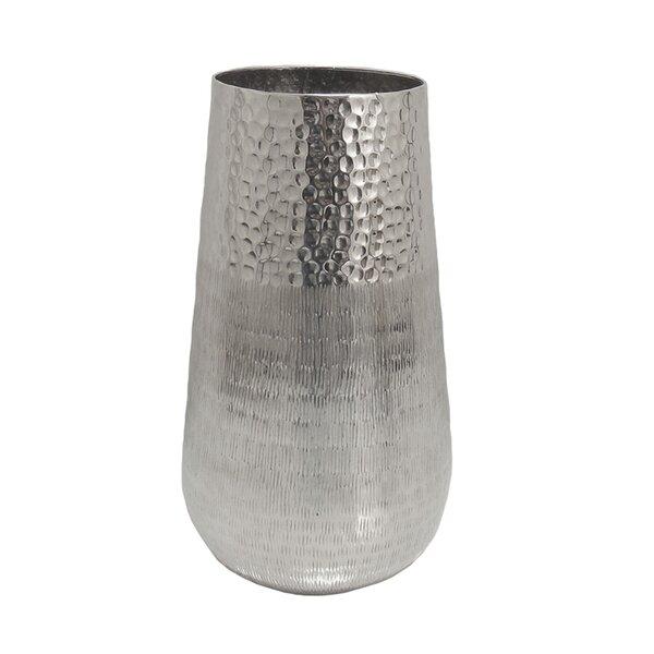 Hammered Metal Vase Wayfair