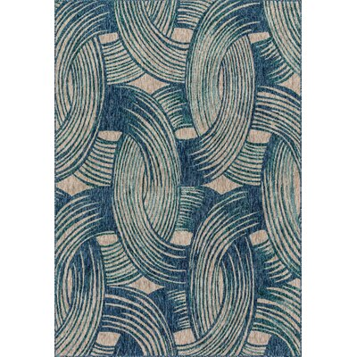 Bay Isle Home Summerfield Blue  Area Rug Rug Size: Rectangle 9'2 x 12'1